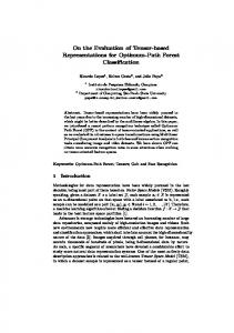 On the Evaluation of Tensor-based Representations