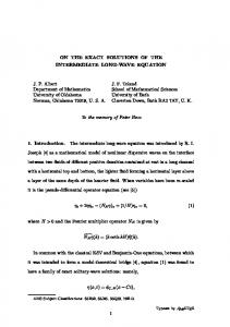 On the exact solutions of the intermediate long-wave equation