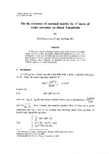 On the existence of extremal metrics for $ L^ 2$-norm of scalar