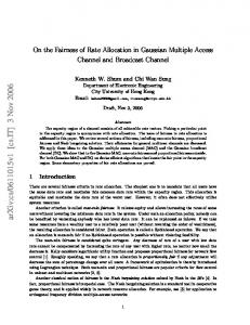 On the Fairness of Rate Allocation in Gaussian Multiple Access ...