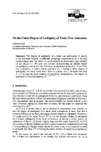 On the finite degree of ambiguity of finite tree automata - Springer Link