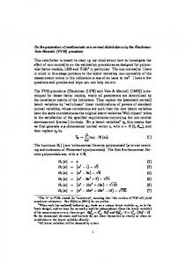 On the generation of multivariate non-normal distributions by the ...