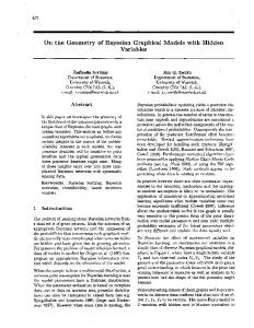 On the Geometry of Bayesian Graphical Models ... - Semantic Scholar