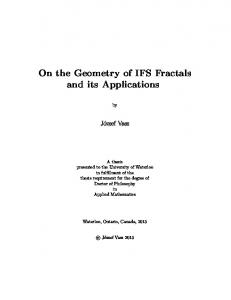 On the Geometry of IFS Fractals and its Applications - UWSpace