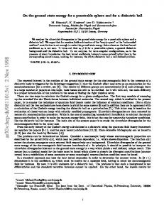 On the ground state energy for a penetrable sphere and for a dielectric ...