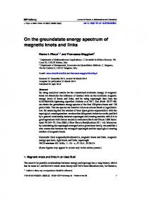 On the groundstate energy spectrum of magnetic knots and links
