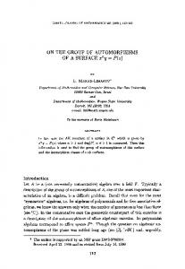 On the group of automorphisms of a surface ... - Springer Link