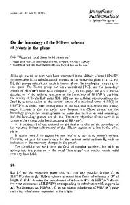 On the homology of the Hilbert scheme of points in the plane