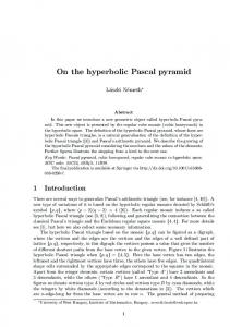 On the hyperbolic Pascal pyramid