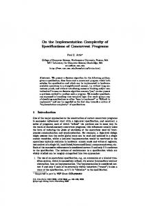 On the Implementation Complexity of Specifications of Concurrent