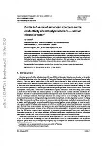 On the influence of molecular structure on the conductivity of ...