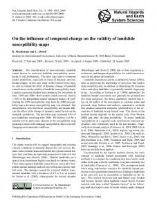 On the influence of temporal change on the validity of landslide ...
