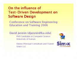 On the influence of Test-Driven Development on Driven Development ...
