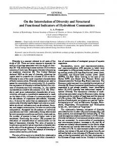 On the Interrelation of Diversity and Structural and ... - Springer Link