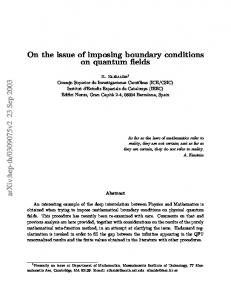 On the issue of imposing boundary conditions on quantum fields