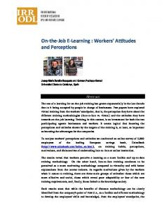 On-the-Job E-Learning : Workers' Attitudes and Perceptions - Eric