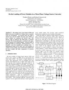 On the Loading of Power Modules in a Three Phase ... - Allen-Bradley