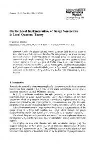 On the local implementations of gauge symmetries in local quantum ...