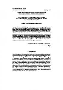 ON THE MAGNETIC CORRESPONDENCE BETWEEN ... - Springer Link