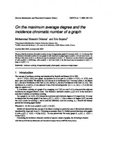 On the maximum average degree and the incidence chromatic ...