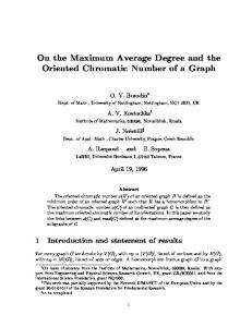 On the Maximum Average Degree and the Oriented ... - CiteSeerX