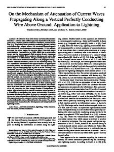 On the Mechanism of Attenuation of Current Waves Propagating Along ...