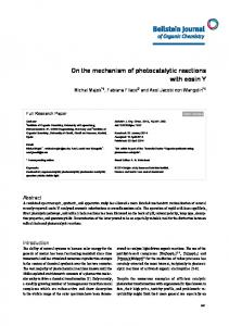 On the mechanism of photocatalytic reactions with