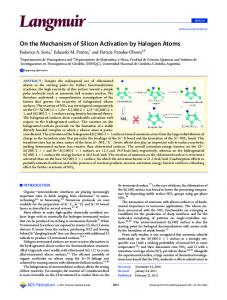 On the Mechanism of Silicon Activation by Halogen Atoms