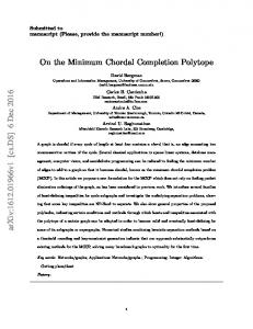 On the Minimum Chordal Completion Polytope
