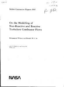 On the Modelling of Non-Reactive and Reactive Turbulent Combustor ...