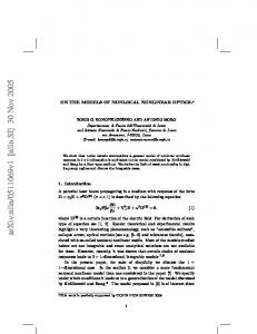 On the models of nonlocal nonlinear optics