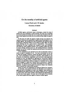 On the morality of artificial agents - CiteSeerX