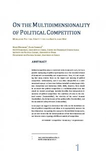 on the multidimensionality of political competition - Democracy ...