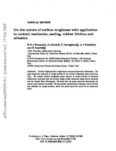 On the nature of surface roughness with application to contact ...