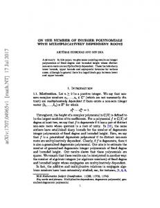On the number of integer polynomials with multiplicatively dependent ...