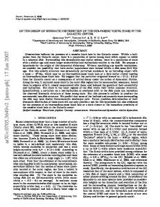 ON THE ORIGIN OF KINEMATIC DISTRIBUTION OF THE SUB ...