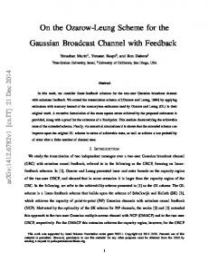 On the Ozarow-Leung Scheme for the Gaussian Broadcast