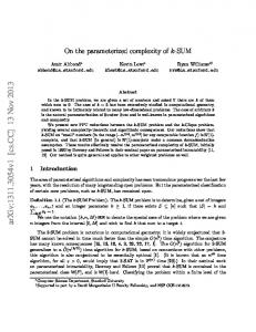 On the parameterized complexity of k-SUM