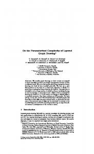 On the Parameterized Complexity of Layered Graph Drawing*