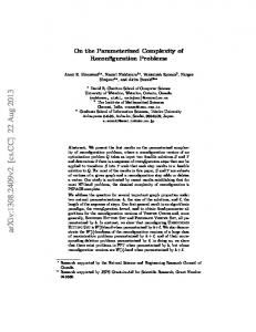 On the Parameterized Complexity of Reconfiguration Problems