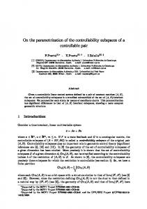 On the parametrization of the controllability subspaces ... - UPCommons