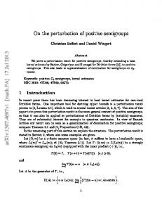 On the perturbation of positive semigroups