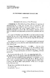 ON THE PIERCE-BIRKHOFF CONJECTURE ... - Project Euclid