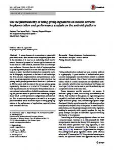 On the practicability of using group signatures on ... - Springer Link