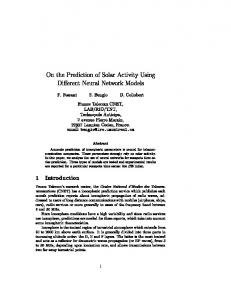 On the Prediction of Solar Activity Using Different Neural Network