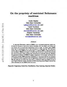 On the propriety of restricted Boltzmann machines