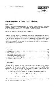 On the quotients of cubic Hecke algebras