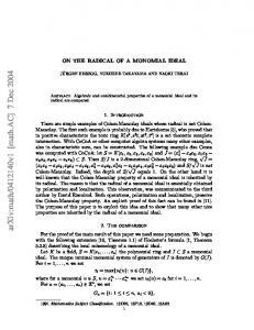 ON THE RADICAL OF A MONOMIAL IDEAL