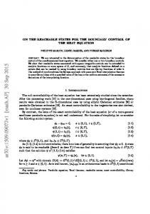 On the reachable states for the boundary control of the heat equation