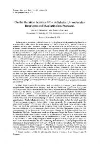 On the relation between non adiabatic unimolecular reactions and ...